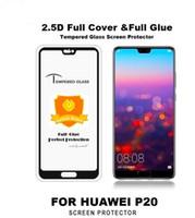 huawei honor cubrir el vidrio al por mayor-Para el vidrio templado Huawei P20 Lite para Nokia 8.1 7.1 6.1 5.1 3.1 Plus 2.1 2 3 5 6 7 Plus 8 6 2018 Protector de pantalla 5D con pegamento completo y cubierta completa