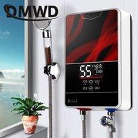 instant wasserduschen großhandel-DMWD Instant Tankless Elektrische Warmwasserbereiter Wasserhahn Küche schnell Heizung Hahn Dusche Warmwasserbereiter Badezimmer LED-Anzeige
