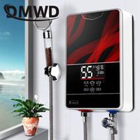 ingrosso docce d'acqua istantanee-DMWD Instant Tankless Riscaldatore di acqua calda elettrico Rubinetto Cucina rapida Riscaldamento rubinetto Doccia Scaldabagno bagno display a LED