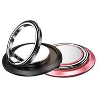 магнитные кольца для пальцев оптовых-Универсальный держатель телефона кольцо подставка палец подставка на 360 ° вращение металлическое кольцо рукоятка для магнитного автомобильное крепление для iPhone XS Max XR