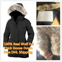 mulheres outdoor parka venda por atacado-Top New Arrival das Mulheres Trillium Parka Casaco de Inverno Ártico Parka Vermelho Casaco Ao Ar Livre Hoodies Real Pele De Lobo