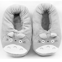 Wholesale Floor Heating - 3D My Neighbor Totoro Soft Plush Slipper Cosplay Cartoon Heating USB Warmer Slippers Winter Indoor Home Shoes