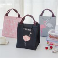 projeto bonito bolsa venda por atacado-Impermeável Isolado Almoço Saco Térmica Handheld Picnic Recipiente Sacos de Isolamento Flamingo Bonito Design Portátil Tote Bolsas 4 8lc Y