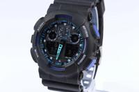 marcas de relógios digitais venda por atacado-G Esporte Militar Relógio Homens ga100 Top Marca de Luxo Famoso Eletrônico Digital LED Relógio De Pulso Masculino Relógio Para O Homem Europa Ocidental Relógio pulseira