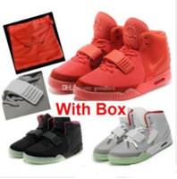 ingrosso sacchetto di tessuto donna-Red October NRG 2 nero rosso solare NRG Wolf Grey Pure Platinum OG con borsa da viaggio Box Sneakers Uomo Donna Scarpe da basket