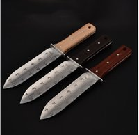 """Wholesale sheath for hunting knife - Heavy-duty Garden Knife, 12"""" Soil Digging Tool for Weeding, Landscaping, Hunting, Gardening with Leather Sheath- NEW"""