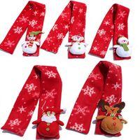 новогодние шарфы оптовых-Зима Санта снеговик олень шарф новинка рождественские украшения костюм украшение Леди Рождественский шарф для новогодних подарков JLE114