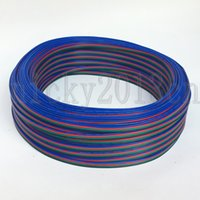 100 Meters 4Pin RGB Extension Wire Cable Connector for 3528 5050 RGB LED Strip Light