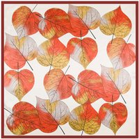Wholesale painted leaf - New Pastoral Style Silk Imitation Scarf Women Abstract Hand Leaf Oil Painting Square Scarves For Decoration Hot Sale 7pr ff