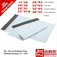 Wholesale Post Parcel - Wholesale 100% new material 100P 10 x 14 Inch 250x350mm white green courier bag Mail Parcel Pack Fast Post Mailing bags 25x35cm