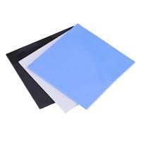 kühlung thermische pads großhandel-100x100x2mm CPU Wärmeleitpad Kühlkörper Kühlung Leitfähige Silikonpads Blau, Grau, Schwarz 3 Farben Wahlweise
