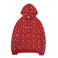 bayanlar xl hoodie toptan satış-Sonbahar Kış Baskı Kapüşonlu Sweatshirt Bayanlar Uzun Kollu Casual Hoodies ceket