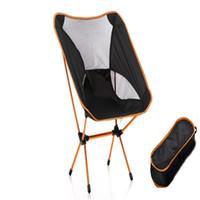 koltuk lambaları toptan satış-Alüminyum Alaşım Katlanır Sandalyeler Rahatlatıcı Zaman Kroki Backchair Ultra Hafif Ay Sandalye Açık Havada Kamp Oturmak Aşağı Dinle 75gc ii