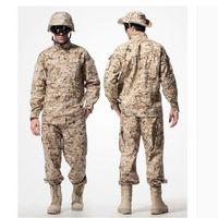 uniforme del ejército camo al por mayor-US Army Desert Camuflaje táctico uniforme de combate Camo ACU Hombres Ropa Caza al aire libre trajes chaqueta + pantalones
