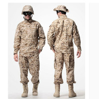 ingrosso giacche uniforme all'aperto-US Army Desert Tactical Camouflage Combat Uniform Camo ACU Uomo Abbigliamento Outdoor Hunting suits Jacket + Pants