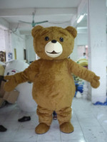 Wholesale Bear Adult Costume - 2018 Factory sale hot Mascot Adult size Cartoon long plush ted brown bear Mascot Costume mascot halloween costume christmas Crazy Sa