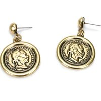 статуя бесплатная доставка оптовых-designer jewelry earrings for women classic statues gold color charm earrings hot fashion free of shipping