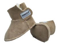 botas de goma viejas al por mayor-100% PURA piel de oveja australiana hecha a mano del botín del bebé de gamuza de invierno súper cálido con pieles de los bebés niñas botas zapatos