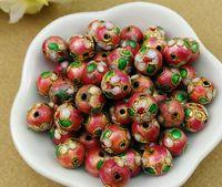 ingrosso porcellana della catena dello smalto-Cina vecchio mestiere cloisonne corned perline 10mm colore può essere gli atleti accessori catena di perle di smalto oro attraverso la catena di perle all'ingrosso