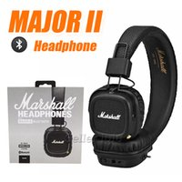 Wholesale wireless noise isolating headset - Marshall Major II 2.0 Bluetooth Wireless Headphones DJ Headphone Deep Bass Noise Isolating Headset Earphone for iPhone Samsung Smart Phone