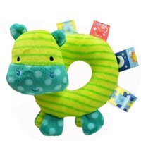 Wholesale baby hippos - Wholesale- Funny Multi-function Plush Baby Rattles Samll Elephant Lion Hippo Animal Rattles for Baby