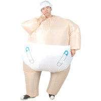 Wholesale inflatable doll blow for sale - Group buy Infant Baby Diaper Inflatable Costume big baby doll cosplay suit adult funny blow up full body suits celebrate baby birth party