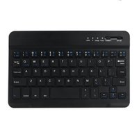 цветная клавиатура android оптовых-LANDFOX Ultra Aluminum Wireless Bluetooth3.0 Keyboard 2 Color 5 Million Strokes 59 Keys 10 m 60 Days For IOS Android Windows PC