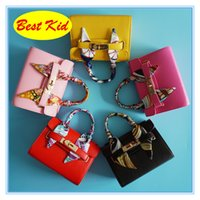 Wholesale little girls scarfs - BestKid DHL Free Shipping! Classic Styles Handbags with Scarf for Children Teenagers Small Shoulder Bags Little baby girls party totes BK031