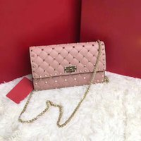 Wholesale women handbag studded - 2018 famous designer bags rivet studded shoulder bag women clutch rivets bag handbag famous design Luxury