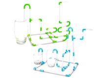 tubo divertido venda por atacado-Arte ecologicamente correta flexíveis Diy connectible Chupando palhas Tubes enigma Toy For Fun Bebidas do partido