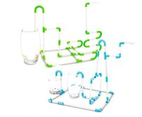 ingrosso divertente tubo-Eco-Friendly flessibili di DIY collegabili Succhiare Cannucce Tubi Puzzle Toy For Fun Party Drinks