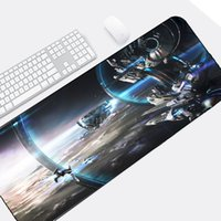 riesige spiele großhandel-Congsipad Science Fiction-Spiel-Art-Raumschiff-enormes Stern-Tor-Muster Mousepad Tischset für Science-Fiction-Fans-PC-Spiel-Matten