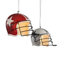 luzes do teto vermelho venda por atacado-Modern Golf Hat Resina Pingente de Luz Vermelho Branco Chapeau Suspension Ceiling Lamp Frete Grátis H071