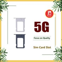 Wholesale iphone5 adapters - Nano SIM Card Slot Tray Holder Replacement Adapter Kit Fix for iPhone 5 5g Repair Spare Parts for iphone5 i5 Black Silver Color