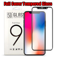 Wholesale color tempered glass for sale - For iPhone Plus iPhone X D Full Cover Color Tempered Glass Soft Edge Screen Protector for iPhone8 Plus with Box Package