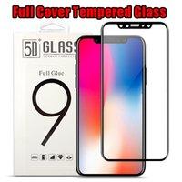paquete protector de pantalla caja de embalaje al por mayor-Para iPhone 8 Plus iPhone X 3D cubierta completa Color templado Vidrio suave Edge Protector de pantalla para iPhone8 7 Plus con paquete de caja