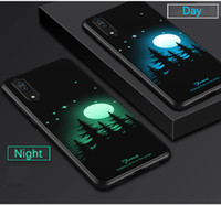 Wholesale green grow light - 2018 Soft Silicone 3D Pattern Case Grow Light Full Back Cover for Huawei P20 Lite Pro Luminous Case for Huawei P20 Lite Pro