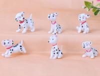 ingrosso ornamenti da giardino cane-Mini cani artificiali Ornamenti Fairy Garden Miniature Gnome Moss Terrarium Decor Resin Artigianato Bonsai Home Decor