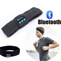 telefonu dinle toptan satış-Kablosuz Bluetooth Kulaklık Uyku Maskesi Telefonu Bandı Uyku Yumuşak Kulaklık Kulaklık Için Liste Müzik Cevaplama Telefon