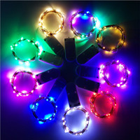 Wholesale Wire Garland Decorations - LED Battery Operated LED Copper Wire String Lights for Xmas Garland Party Wedding Decoration Christmas Fairy Lights