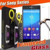 paquete xperia al por mayor-Vidrio Templado 9H Explosion Película Premium Protector de pantalla para Nokia 6 5 LG G6 G5 Sony Xperia Z5 Permium Z5 Plus M10 HTC One Max con paquete