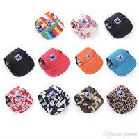 ingrosso solo tela-SHUIPet Dog Hat Berretto da baseball Cappello estivo in tela solo per piccoli animali da compagnia Accessori da esterno Sport da escursione all'aperto 20PCS
