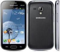 s7562 telefon großhandel-Original entsperrt Samsung Galaxy S Duos S7562 S7562i Handys 4,0 '' Bildschirm 3G WIFI GPS 5MP 4GB generalüberholte Telefon