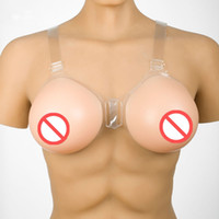 Wholesale silicone boobs for men resale online - Realistic silicone breast forms crossdresser natural silicone breast for men artificial breast boob enhancer g pair