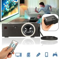 pequenos projetores usb venda por atacado-Mais novo Projetor Digital UC18 O Menor LCD Mini Bolso Projetor Suporte HDMI TF Cartão USB LED Projetor Para Casa Bussniess