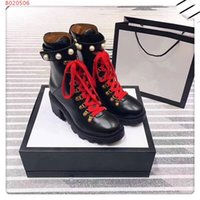 Wholesale pearl boots for sale - Group buy Brand new Fashionable leisure temperament elegant high quality genuine leather Pearl decoration high heel women Martin Boots
