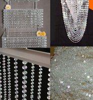 cristal acrylique 14mm achat en gros de-Eco-Friendly 99 Ft Livraison gratuite, Garland 14mm cristal acrylique octogonal perles Garland Strand, Fête de mariage Décoration,