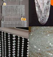 akrilik 14 mm kristal toptan satış-Çevre Dostu 99 Ft Ücretsiz Kargo, Garland 14mm Akrilik Kristal Sekizgen Boncuk Garland Strand, Düğün Dekorasyon,