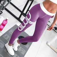 Wholesale print leggins - Print Sporting Running Leggings Woman New Arrival Spring Workout Slim Leggins Fitness Legging Women Gym Pants Trousers CU964668
