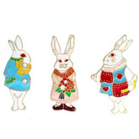 Wholesale american metal coatings for sale - AWESOME CARTOON MR RABBIT BROOCH BADGE AMERICAN EUROPE POPULAR BREASTPIN COAT SUIT SWEATER JEWELRY AWESOME METAL SPORT WEAR DECOR